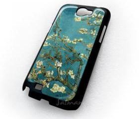 Almond Blossom Van Gogh Tree Watercolor samsung galaxy note 2 N7100 Case